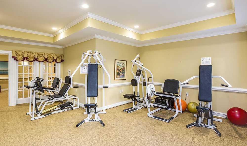 Our fitness center at Carriage Green at Milford keeps everyone healthy
