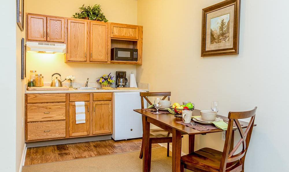Kitchen at senior living in Milford