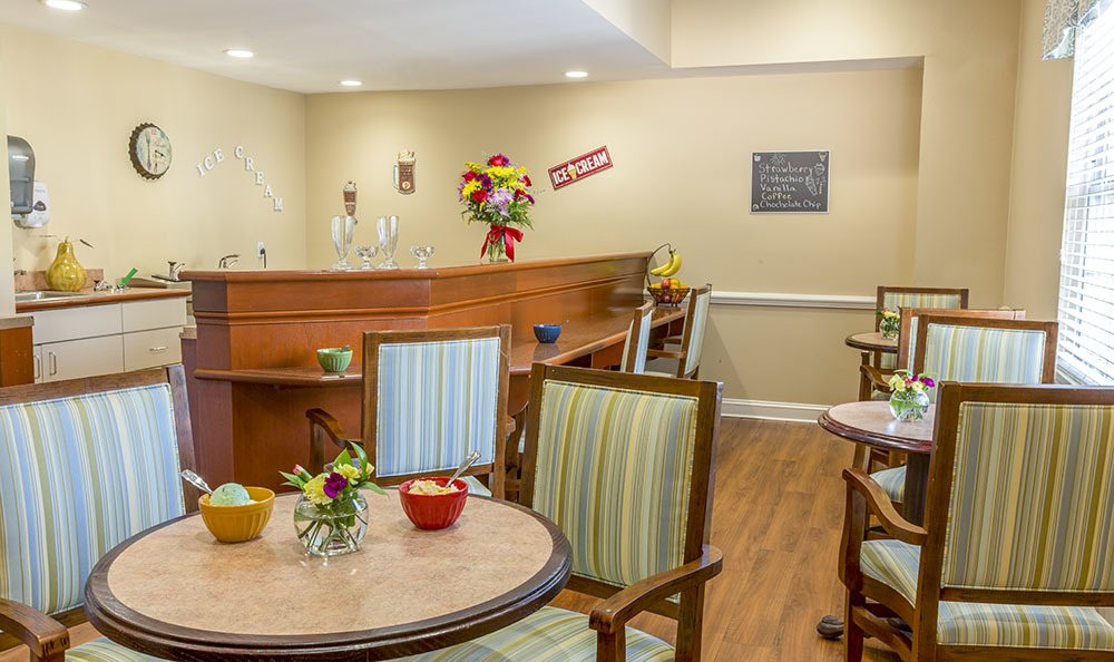 Visit our ice cream parlour at Carriage Green at Milford senior living facility in Milford, CT