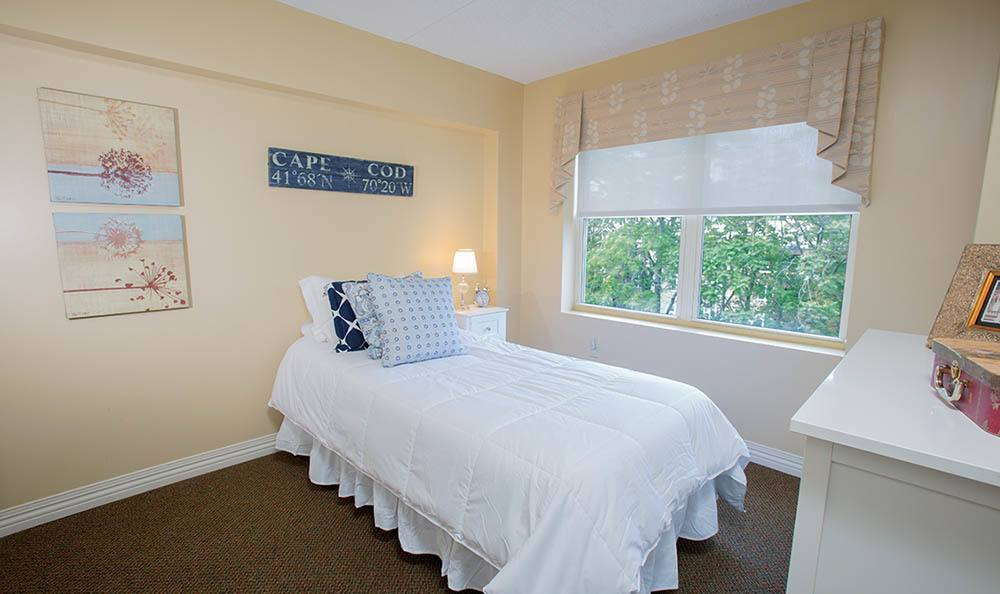 Bedroom at senior living in MA