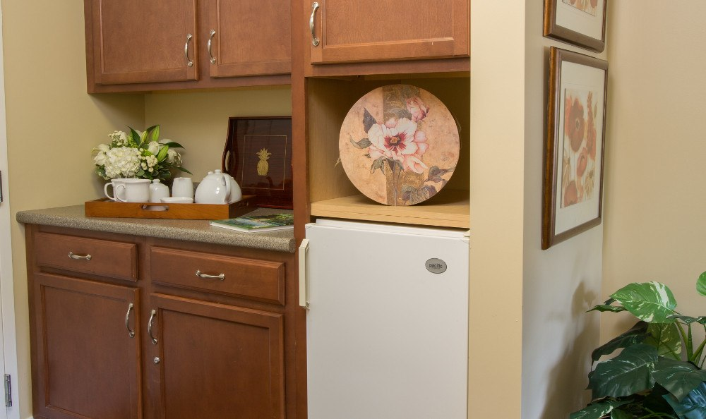 Personal Refrigerators available at Senior Living at Chestnut Park at Cleveland Circle.