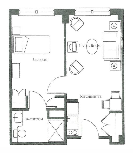 Large one bedroom floor plans