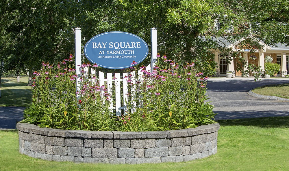 Our front sign welcomes you at Bay Square at Yarmouth