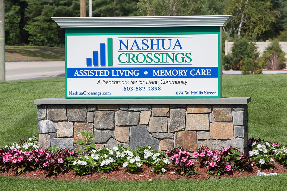 Keep an eye out for our front sign when searching for our location in Nashua