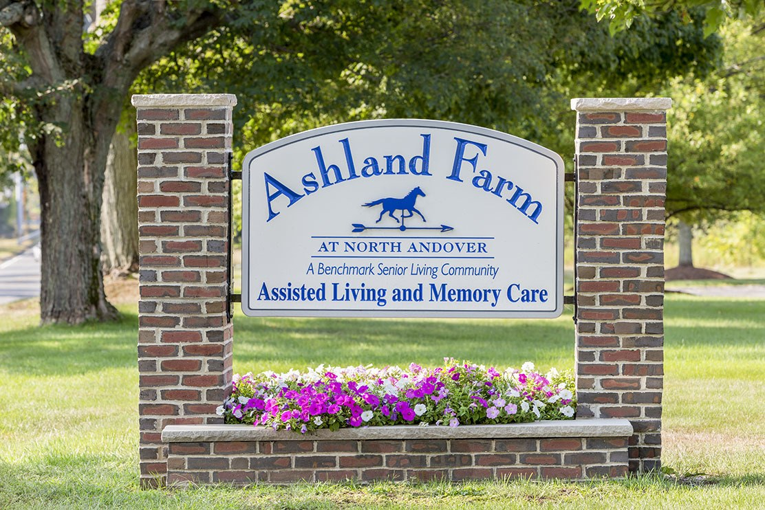 Front sign of Ashland Farm at North Andover