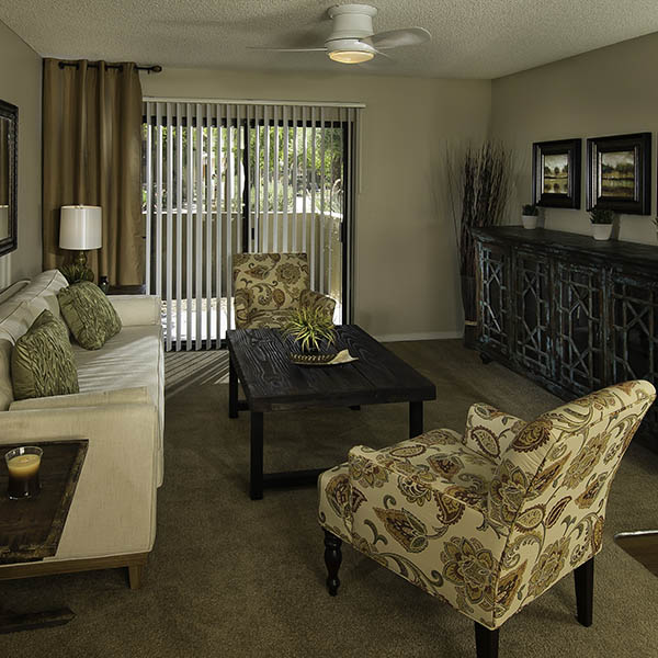 Living Room at River Ranch Apartments
