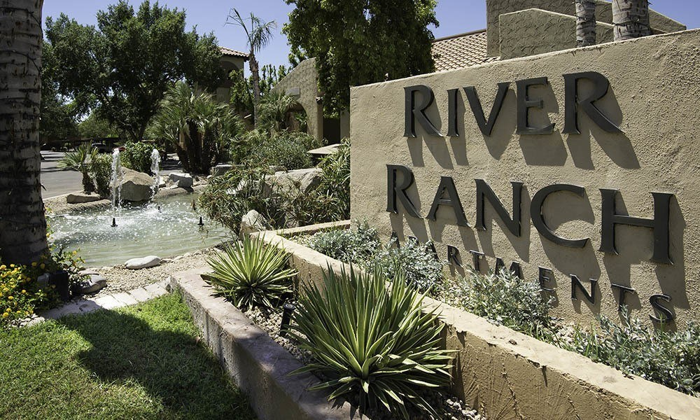 Signage at River Ranch Apartments in Chandler, AZ