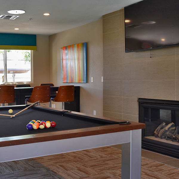 Clubhouse Pool Table at 2150 Arizona Ave South