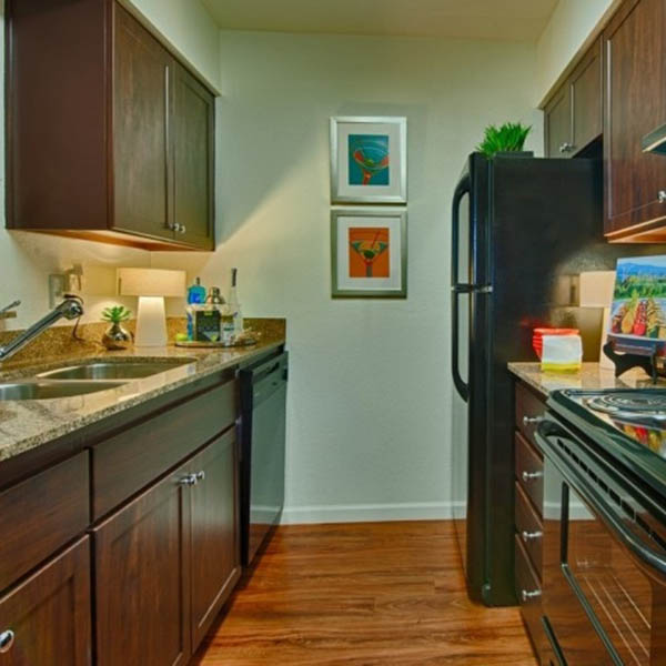 Modern Kitchen at Cabrillo Apartments