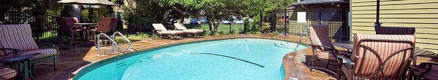 Bellevue apartments have a large and safe pool area