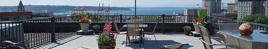 Seattle apartments have a roof top deck to relax at