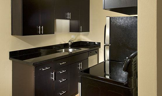 Modern Kitchen in the apartments for rent at The Q Apartments in , WA