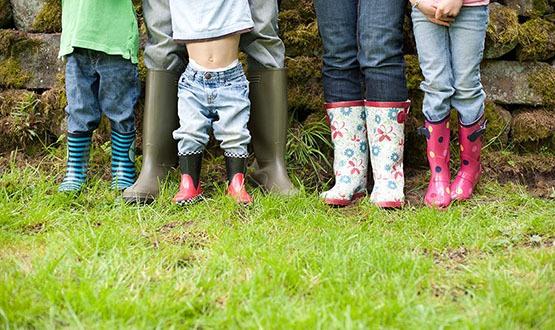 Rain boots in Seattle