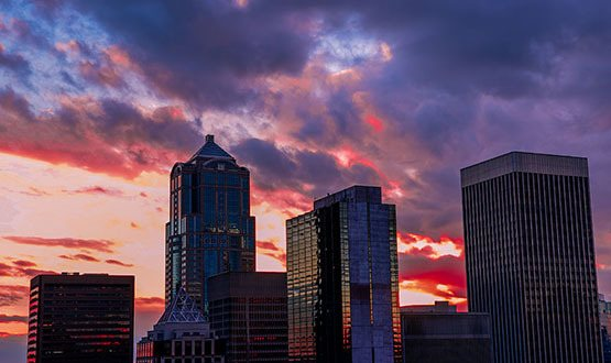 Sunset over Seattle, WA