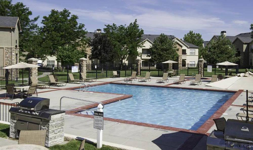 Exterior Pool At Alpine Meadows Apartments