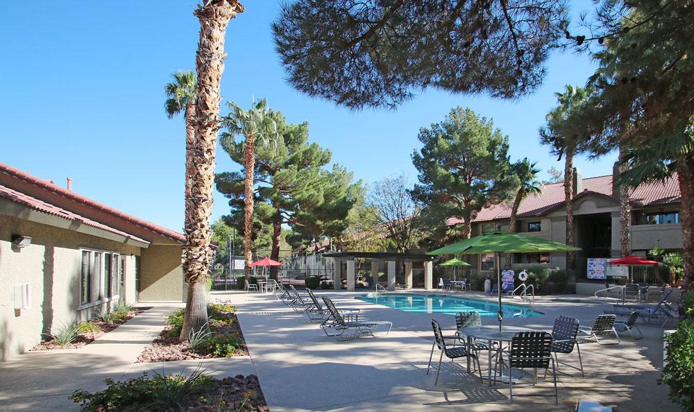 Beautiful Resort-style Pool at Crystal Creek Apartments