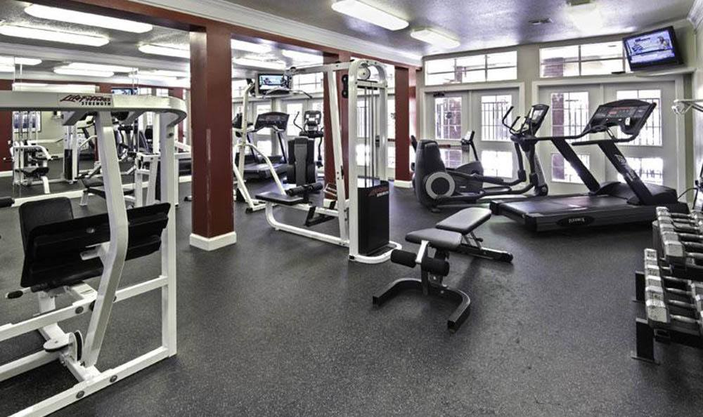Fitness Center At Irving Schoolhouse Apartments