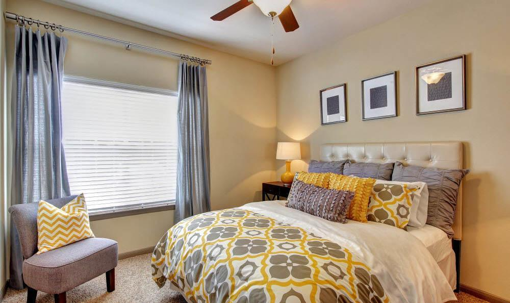 master bedroom at the apartments for rent at in san antonio