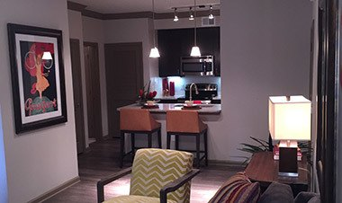Model Living One Bedroom And Kitchen