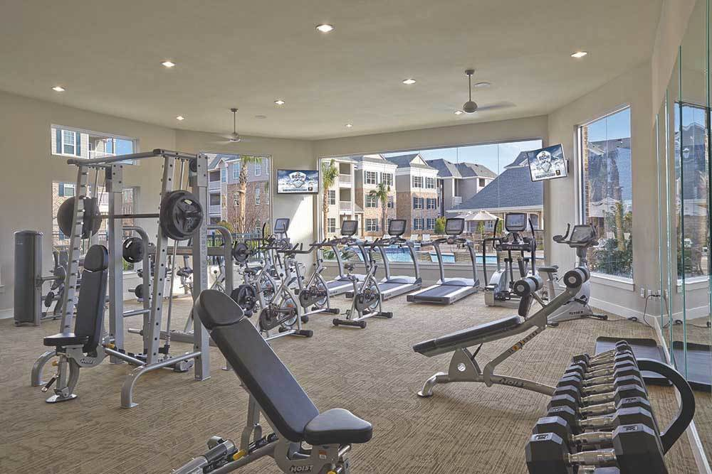 The Remington Katy Fitness Center With Pool View
