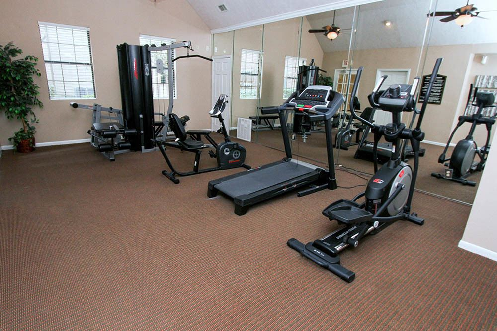 Fitness Center At Our Apartments In Houston