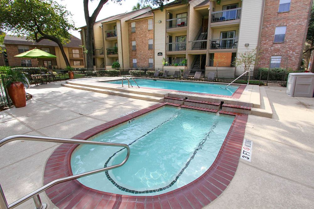 Pool And Spa At Our Apartments In Houston