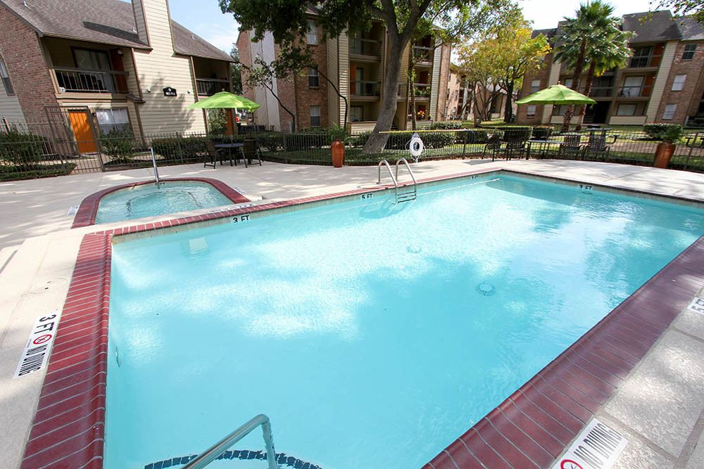 Sparkling Pool At Our Apartments In Houston