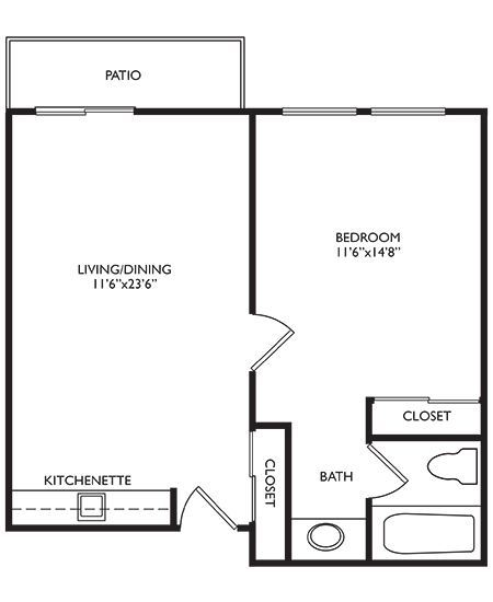 Independent Living One Bedroom at Welbrook Arlington in Riverside, California