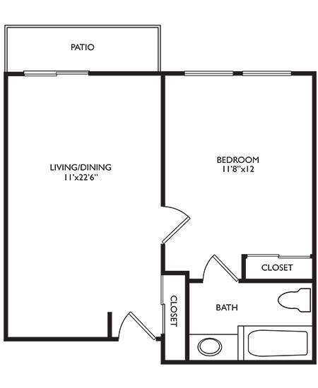 Connections For Living One Bedroom at Welbrook Arlington in Riverside, California