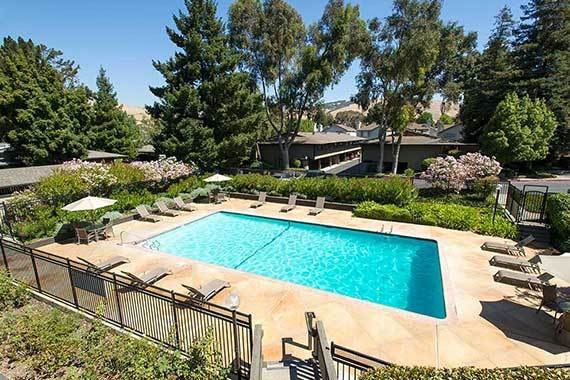 Sofi Fremont has a pool to keep you cool in the California heat.