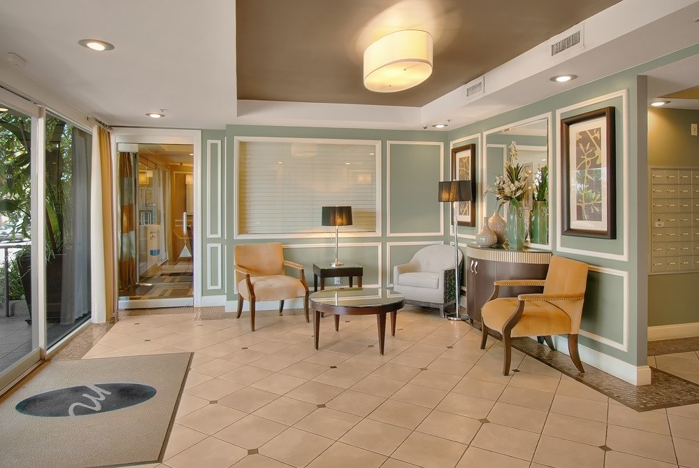 Lobby of Los Angeles apartments
