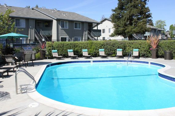 Pool at apartments in Fremont