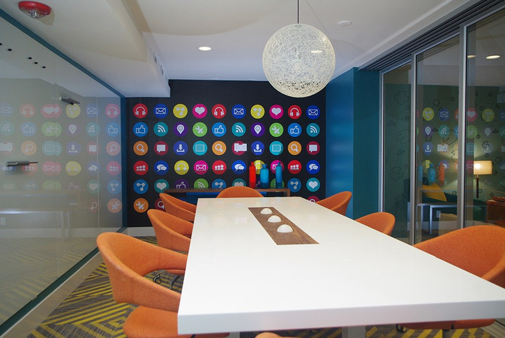 Modern meeting room at apartments in Sunnyvale