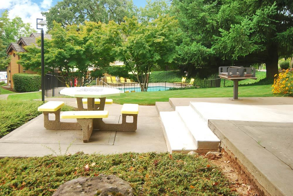 Picnic Area at the Apartments for rent in Lake Oswego