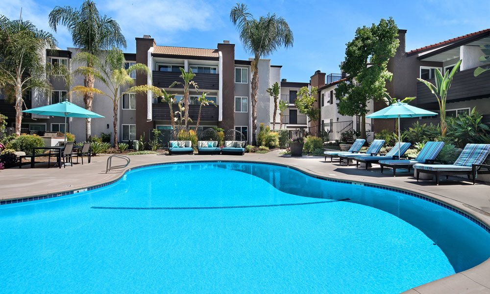 Pool at Woodland Hills apartments