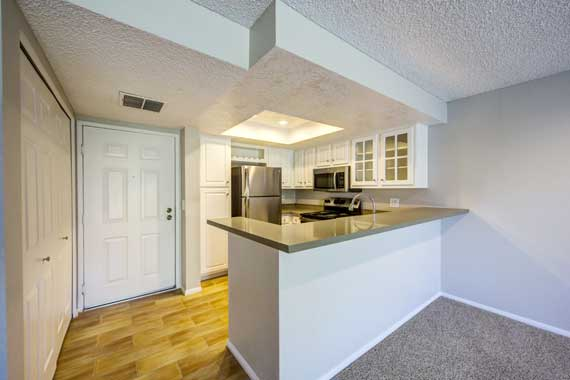 Breakfast bar at apartments in Irvine