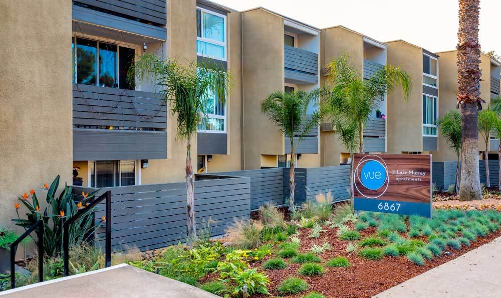 Entrance of apartments in San Diego
