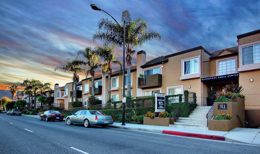 Burbank apartments at sunset
