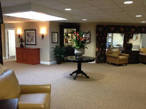 Living room at Arbor Trace Alzheimer's Special Care Center
