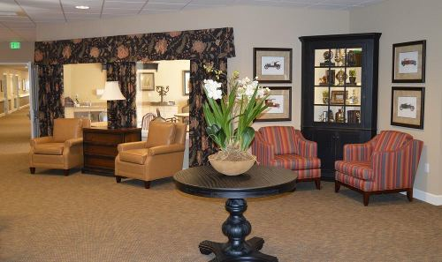 Living Room at Colonial Gardens Alzheimer's Special Care Center in West Columbia