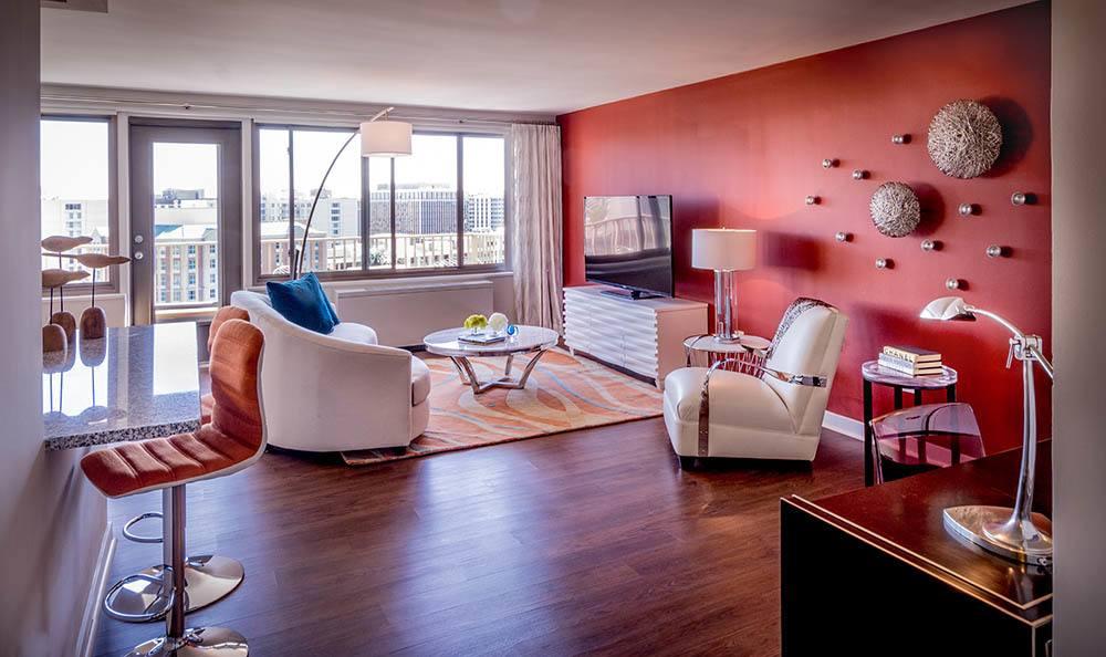 Arlington Apartments Living Room And Breakfast Bar