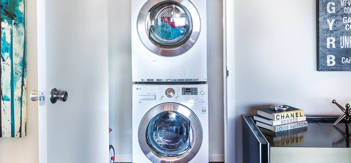 Washer and dryer at apartments in Arlington