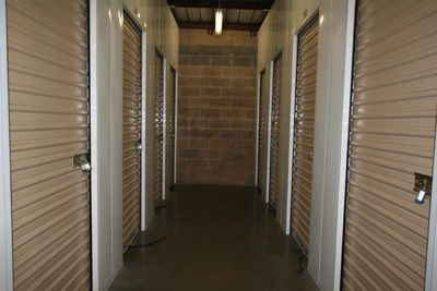Interior view of storage units at Central Rocklin Self Storage