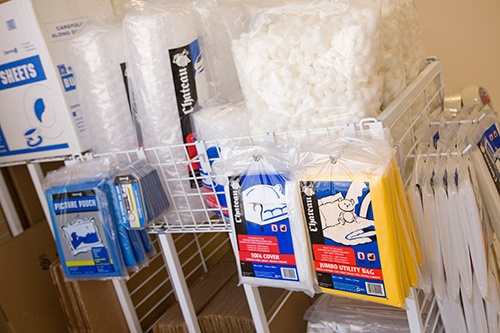 We sell packing and moving supplies in our office here at Moody Road Storage