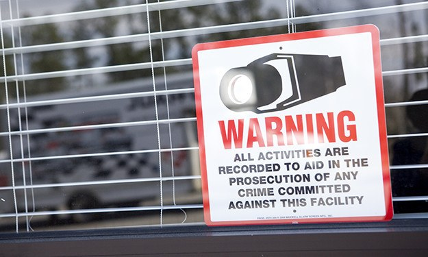 Our signs warn potential thieves that Frederica Storage is protected by cameras, recording activity 24-hours a day.