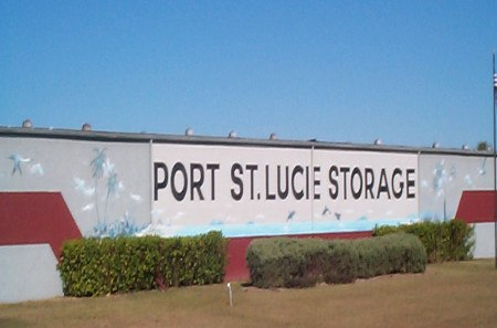 Sign at storage in Port St Lucie Florida