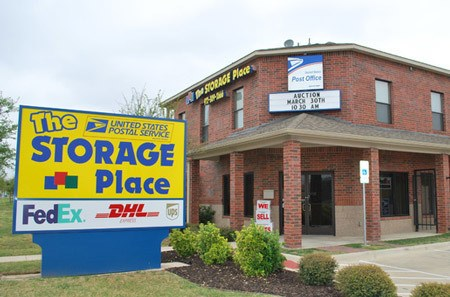 Front View Of Office With Sign