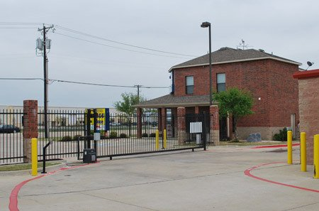Exterior View Of Self Storage And Gated Entrance
