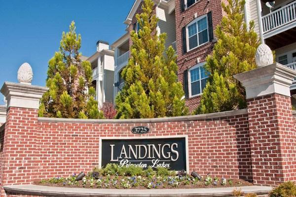 Monument sign at The Landings at Princeton Lakes in Atlanta, GA