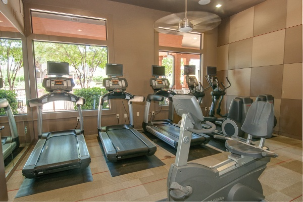 Fitness center at The Cottages in Austin, TX